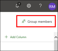 Figure 1: Click the Group members button