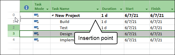 Figure 1: Drag and drop the Design task