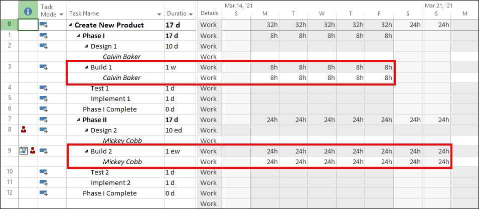 Figure 3: Duration entered in Weeks and eWeeks