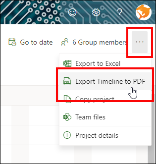 Figure 3: Select the Export to PDF item