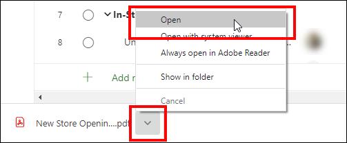 Figure 5: Click the Open button