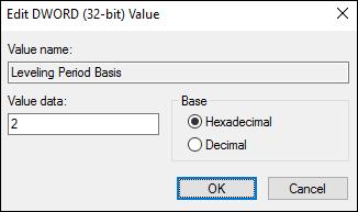 Figure 5:  Leveling Period Basis option setting