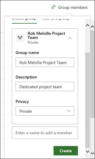 Figure 9: Setup of reusable group