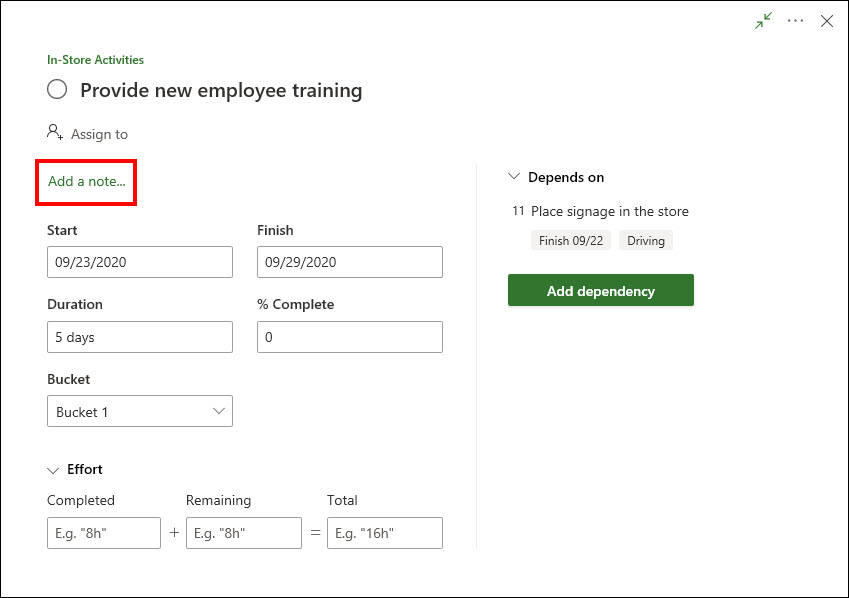 Figure 28: Task Details dialog
