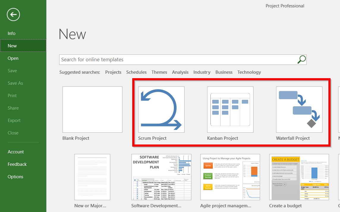 New Agile Features in Project Professional